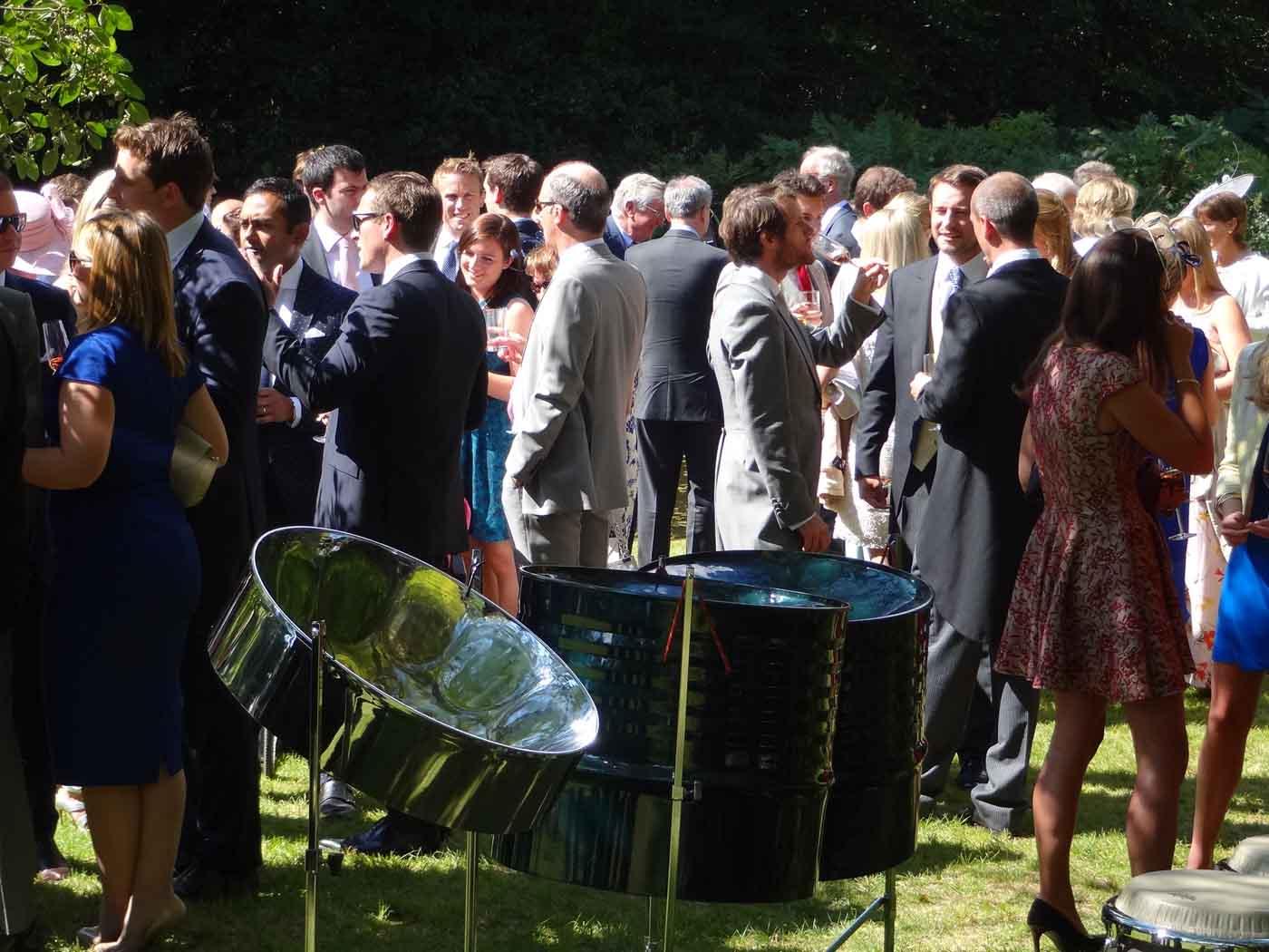 Steel Band for wedding, steel band wedding hire, wedding musicians London, band for the wedding drinks reception, ideas for wedding music London,
